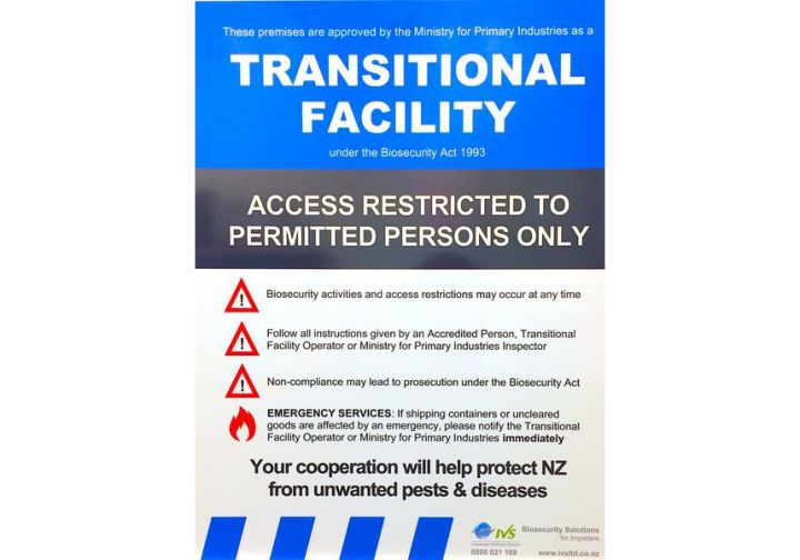 Transitional Facility Signs